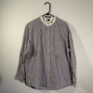 TOMMY HILFIGER Striped Logo Button Down Shirt